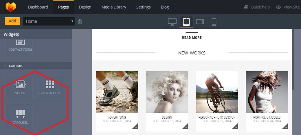 How to make a personal pages website - galleries