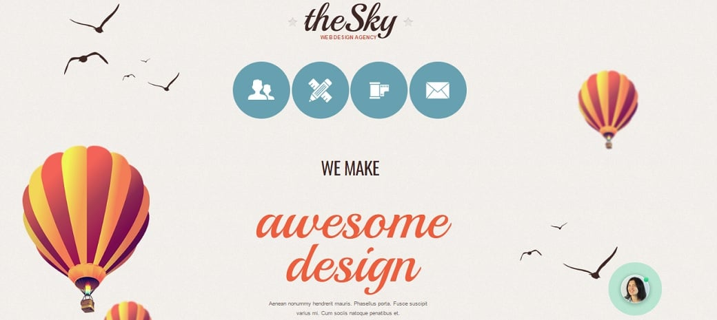 How to make a web design website - the sky