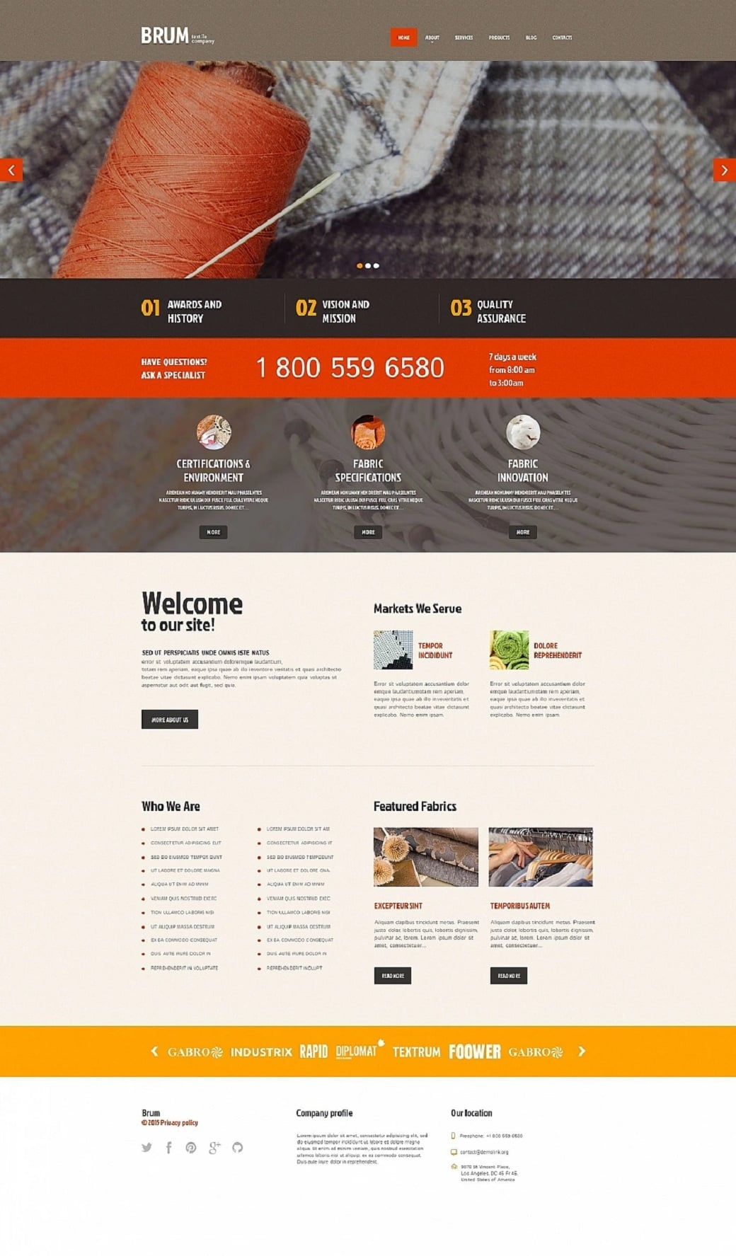 How to make an industrial website - brum