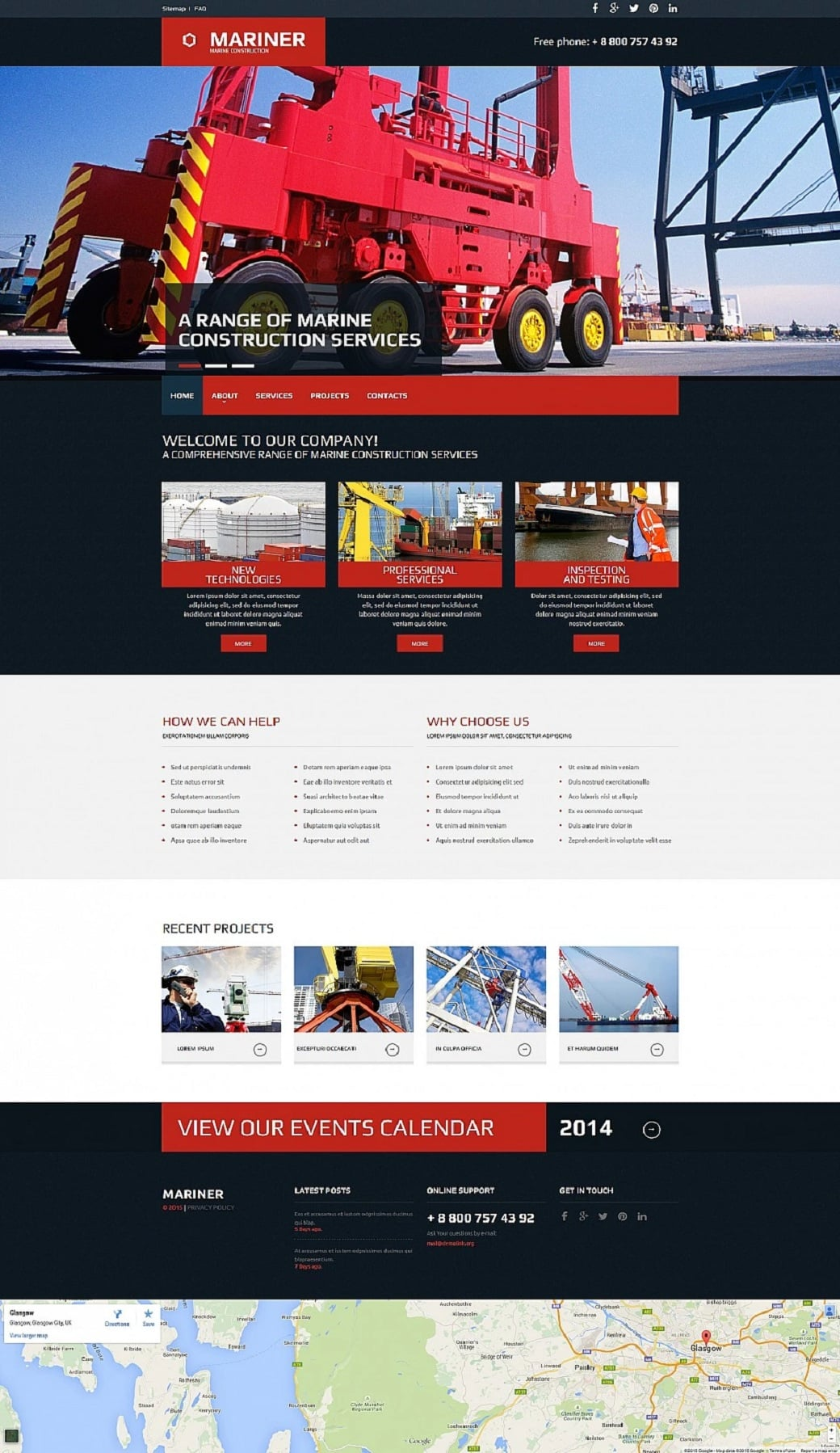How to make an industrial website - mariner