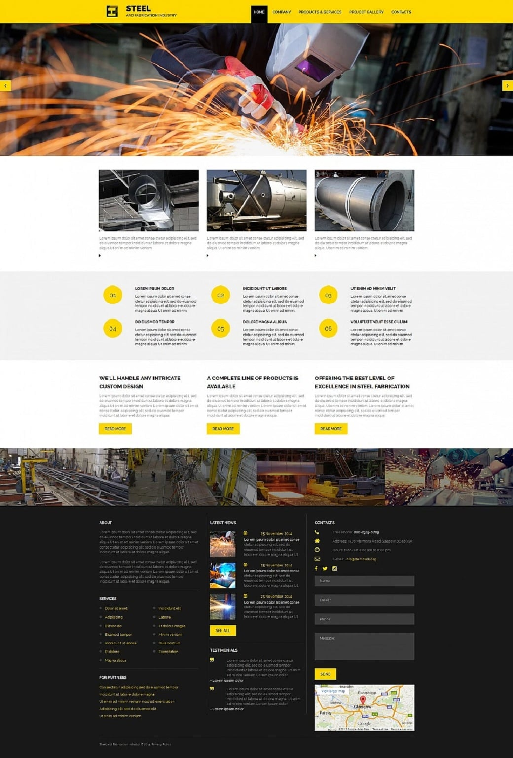 How to make an industrial website - fabrication