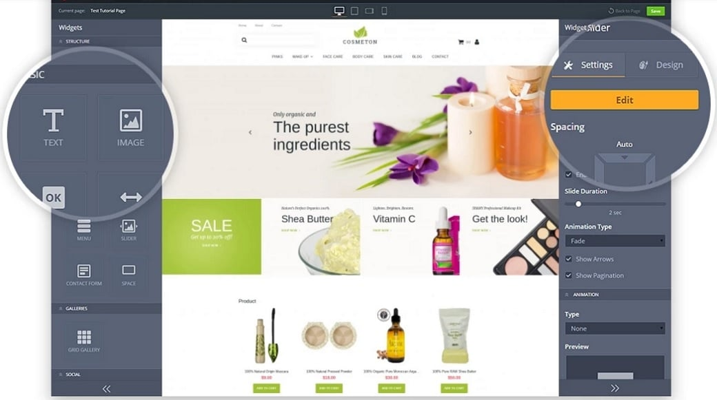 How to make a beauty website - admin panel