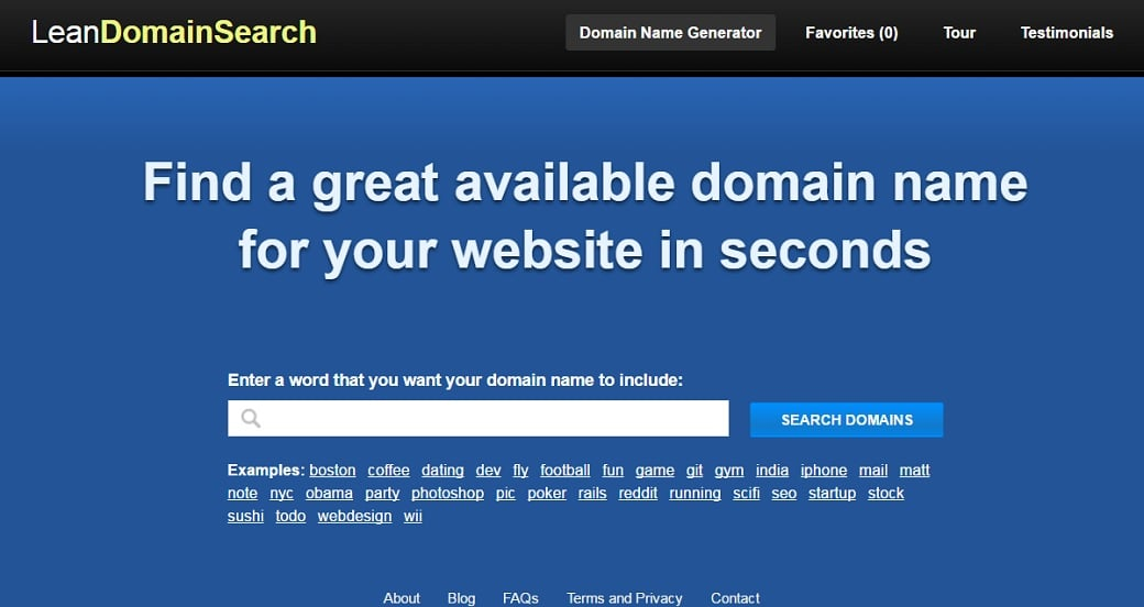 How to make a beauty website - lean domain search