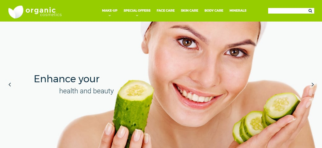 How to make a beauty website - organic cosmetics