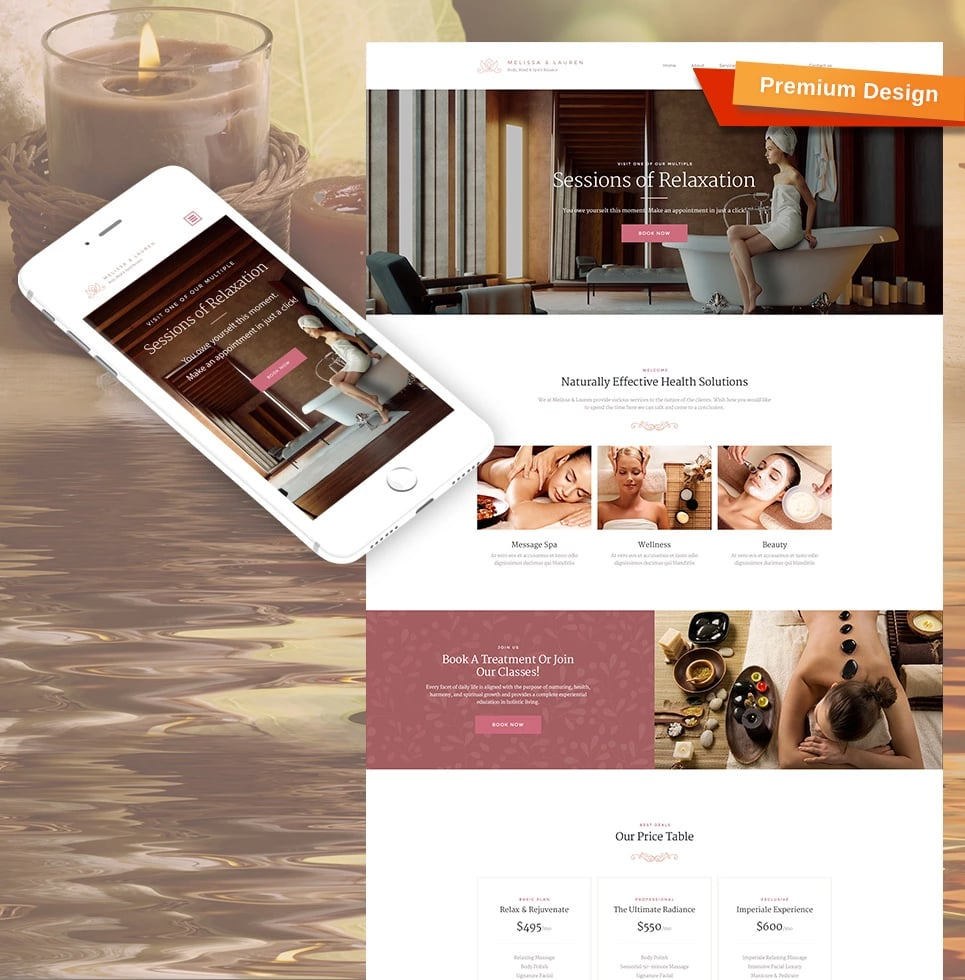 How to make a beauty website - spa template