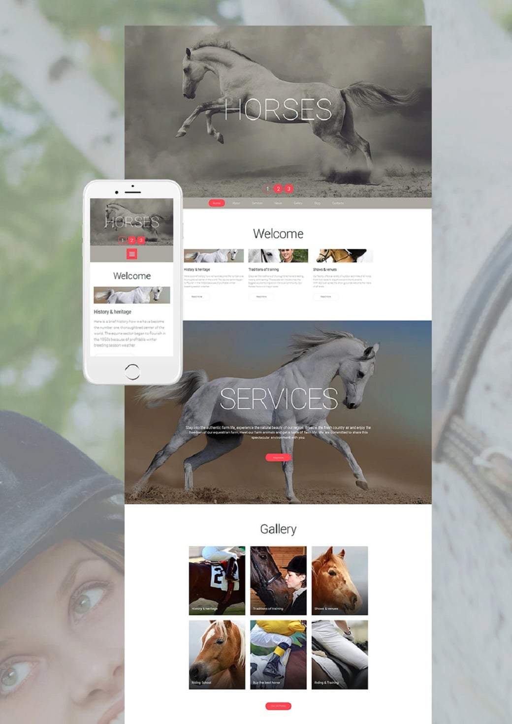How to make a pet website - horses top