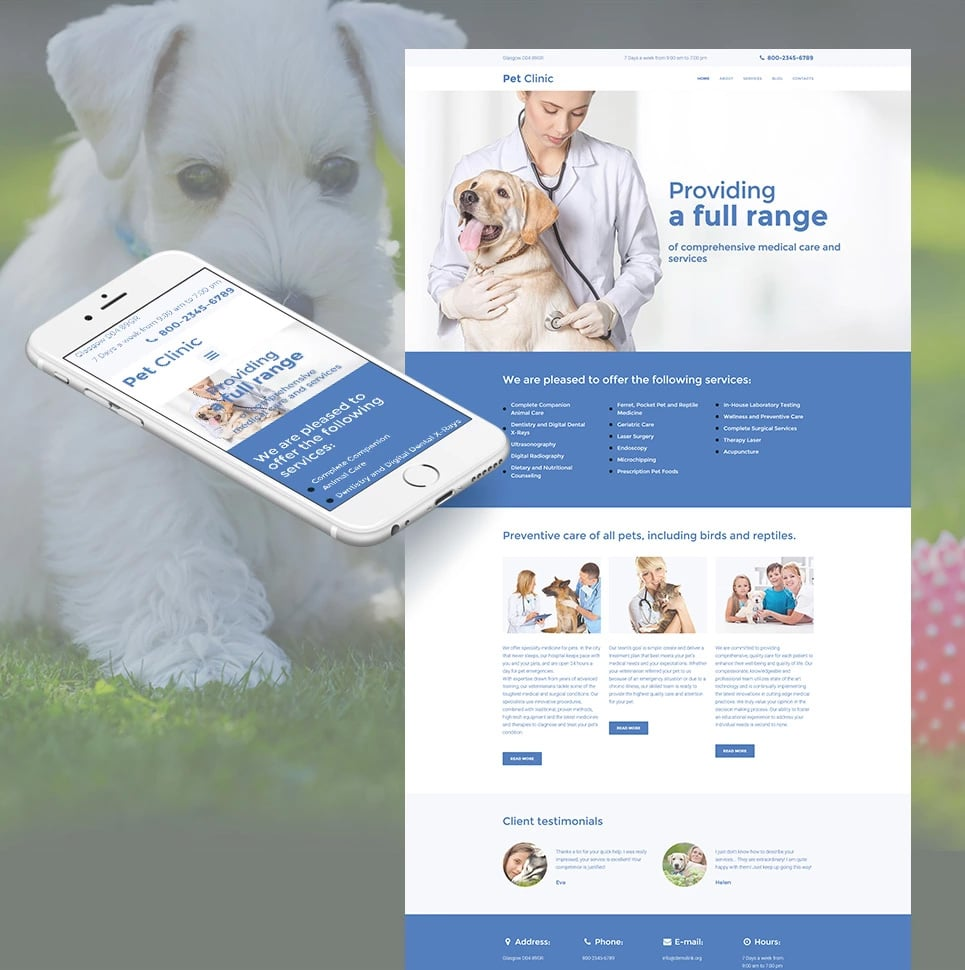 how-to-make-a-pet-website-pet-clinic