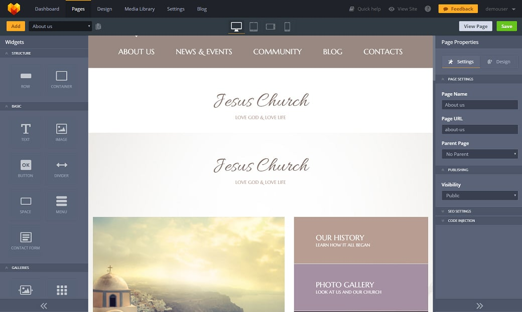 How to make a religious website - admin panel