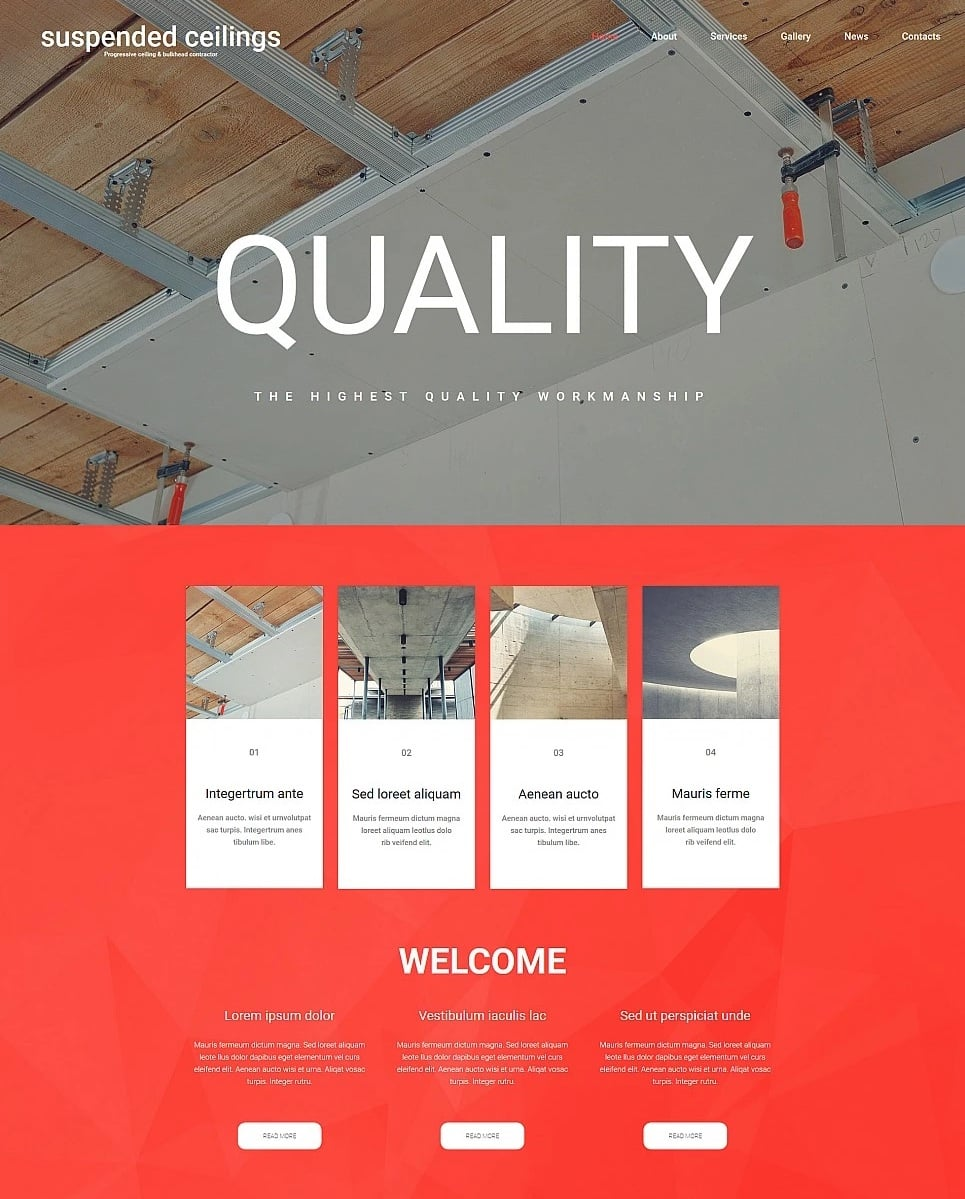 How to make an architecture website - suspended ceilings