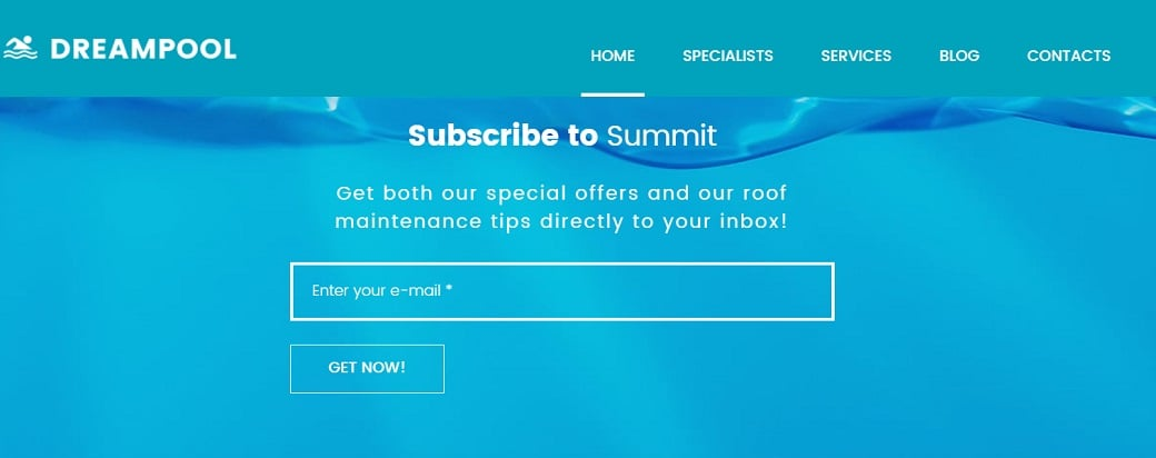 How to make a maintenance website - subscription form