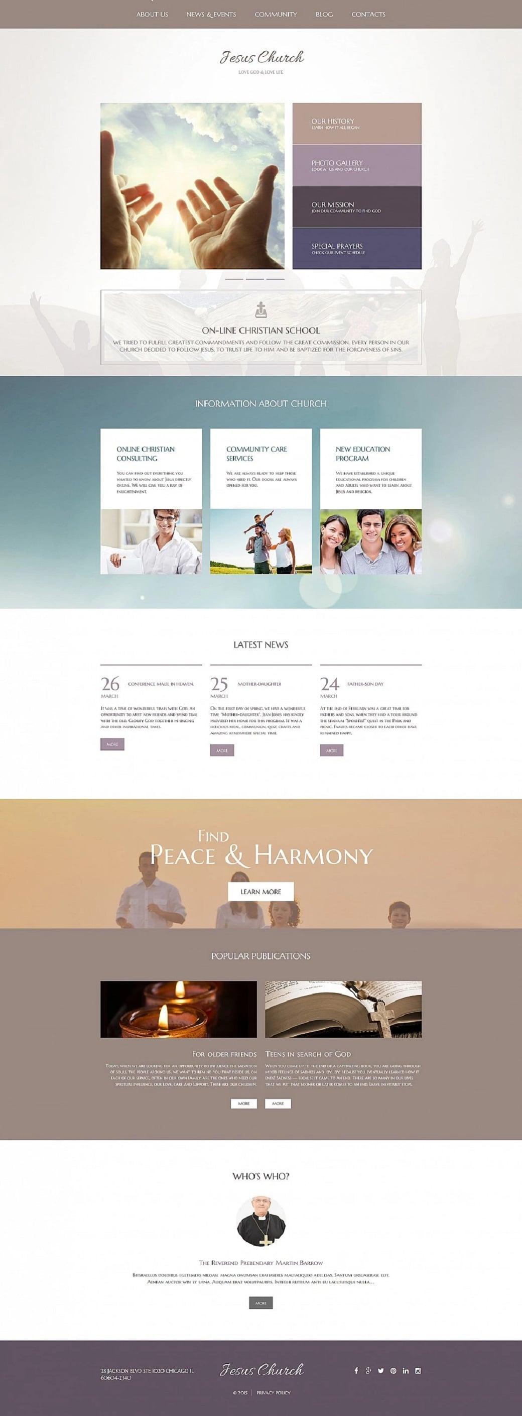 How to make a religious website - Jesus Church