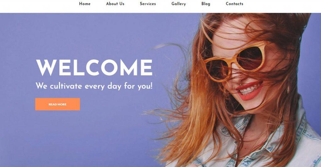 Attraktive Website Vorlage für einen Fotoservice