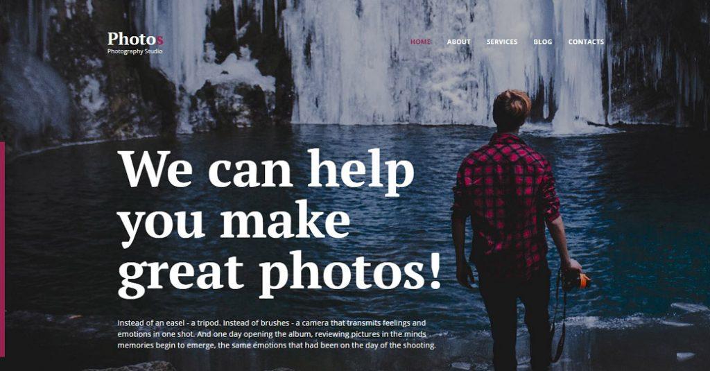 Responsive Website Template für ein Foto Portfolio