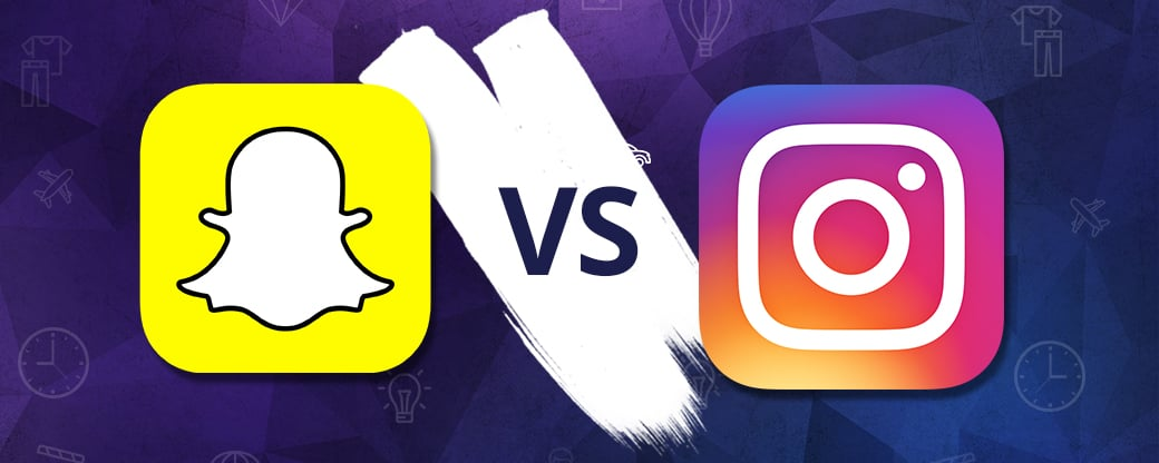 Snapchat vs instagram free infographic 2017 - main image