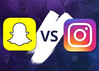 Instagram vs Snapchat: бесплатная инфографика 2017