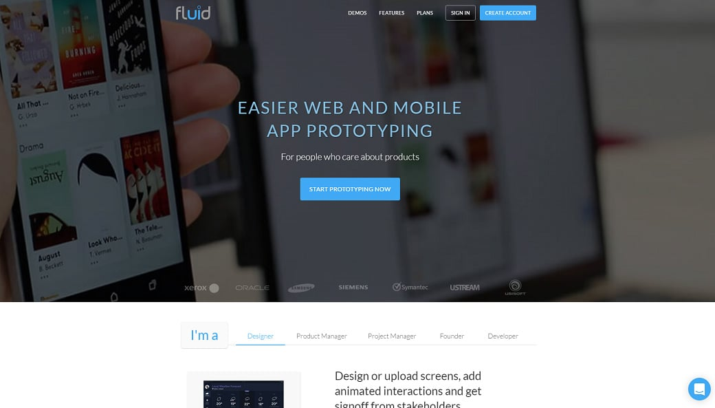 Top wireframe tools - fluid