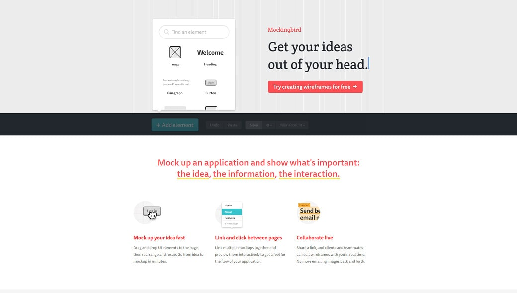 Top wireframe tools - mockingbird