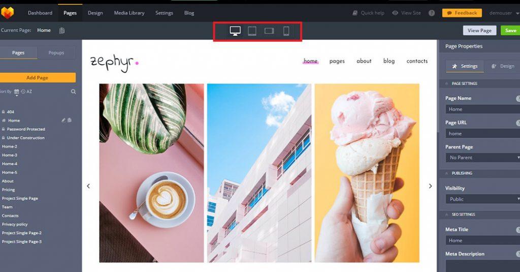 Anpassbares Template für eine Fotografen Homepage