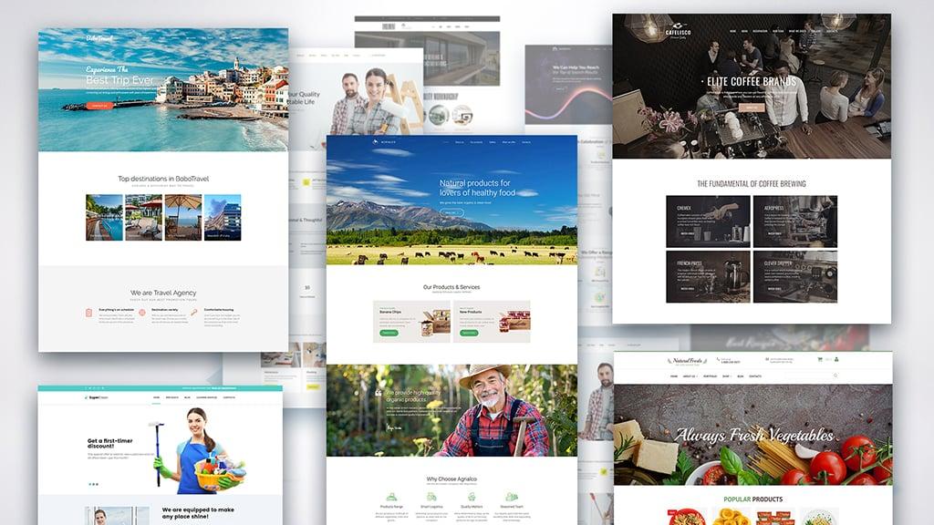 платформы для создания сайтов - шаблоны