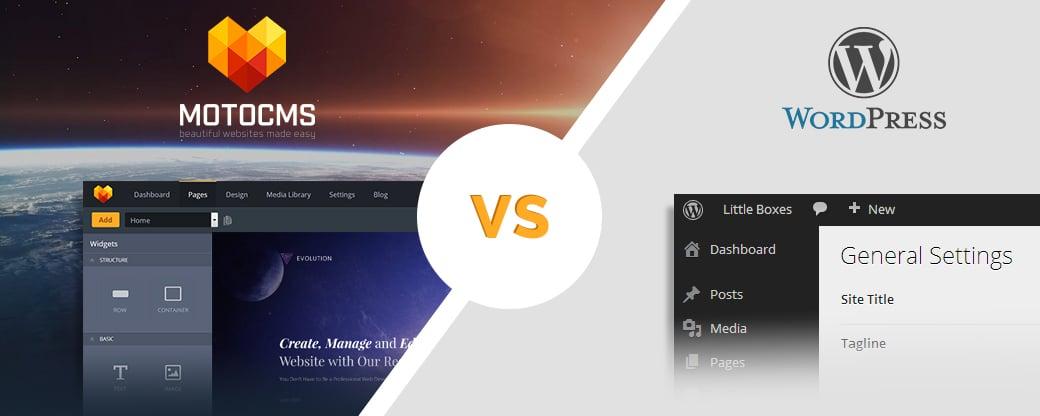 MotoCMS und WordPress vergleichen