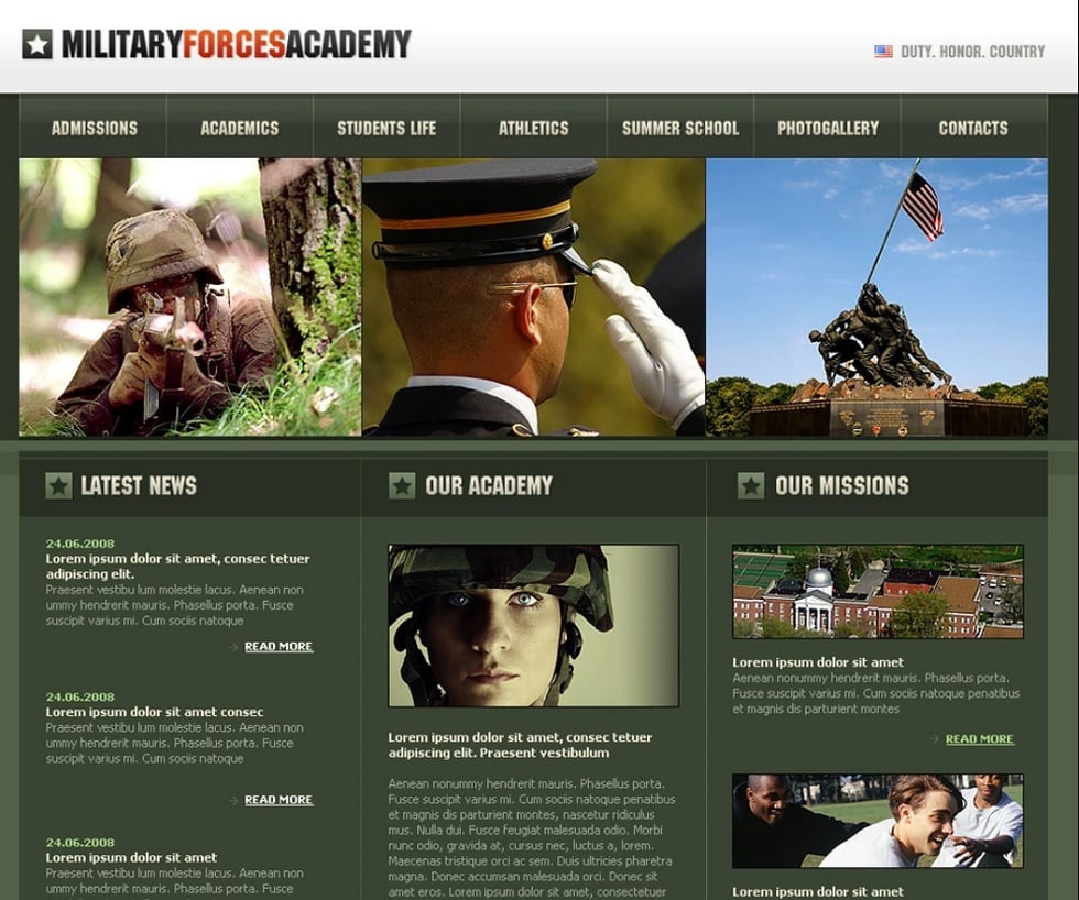 How to make a military website - military forces