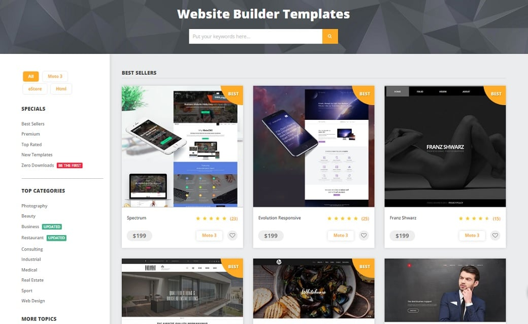Ultimate cms comparison - MotoCMS website templates
