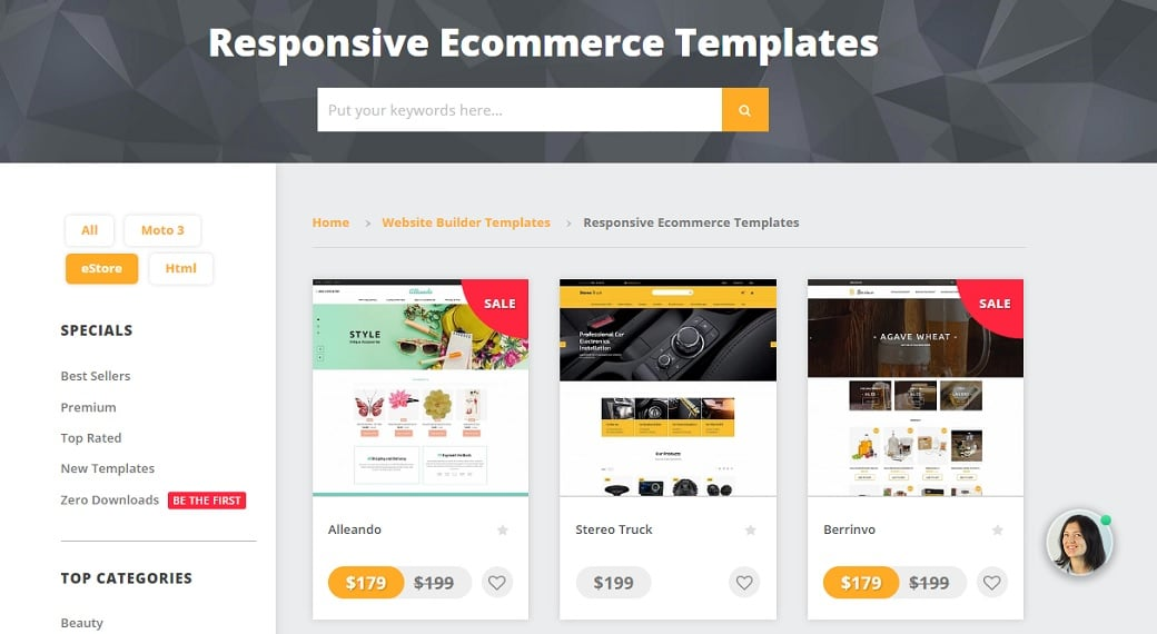 Ultimate cms comparison - MotoCMS eCommerce templates