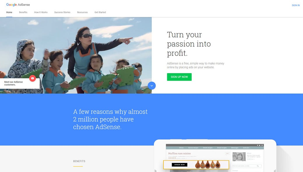 Affiliate programs for web design bloggers - AdSense