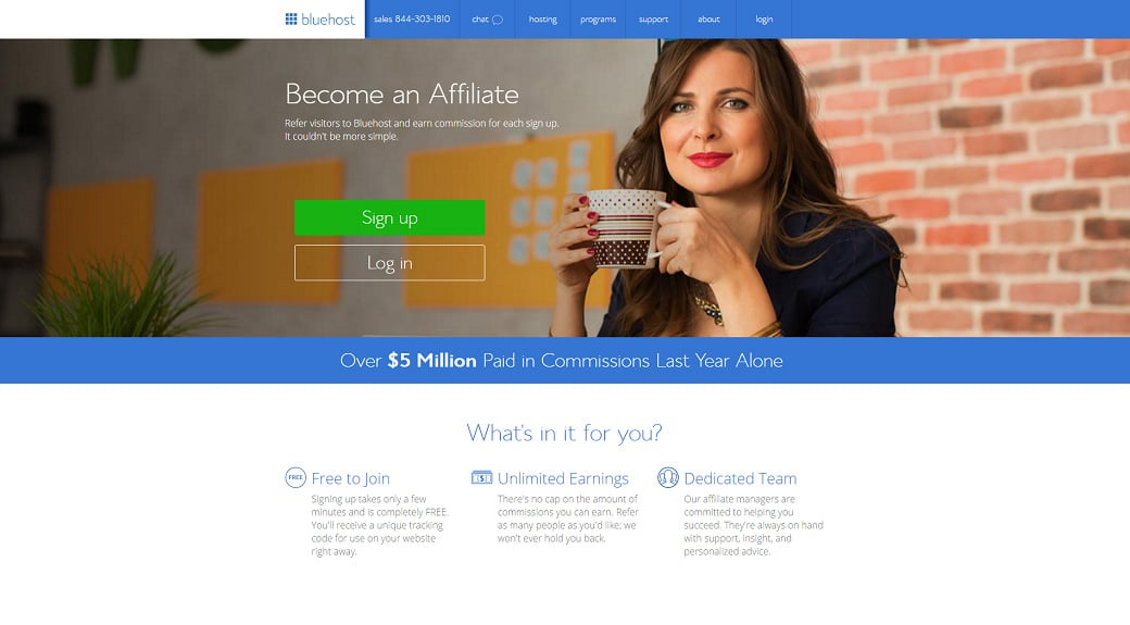 Affiliate programs for web design bloggers - Bluehost
