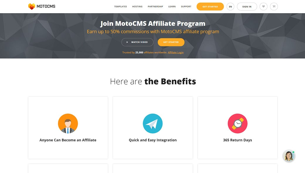 Affiliate programs for web design bloggers - MotoCMS