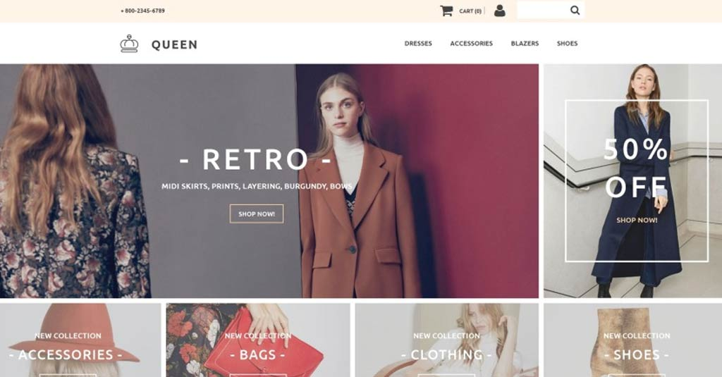 e commerce template fashion