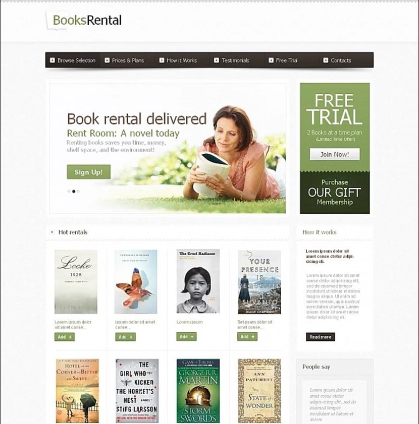 How to make a book website - books rental
