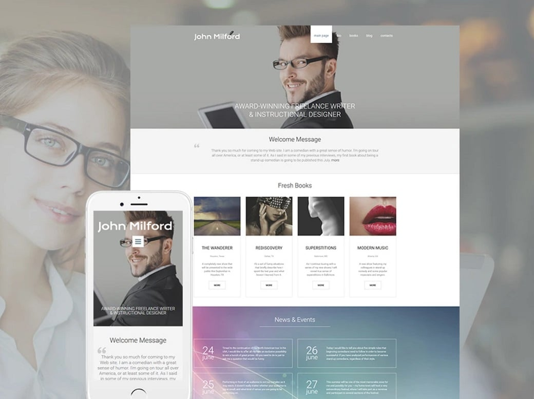 How to make a book website - template