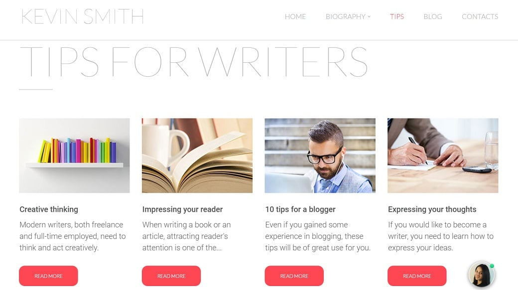 How to make a book website - tips