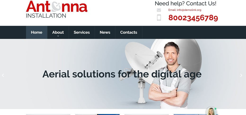 How to make a communications website - antenna