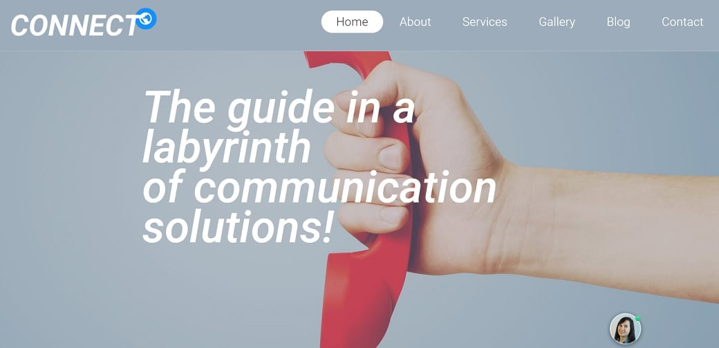How to make a communications website - home page