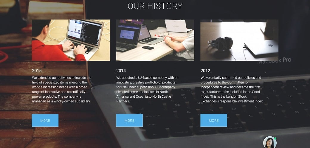 How to make a communications website - our history