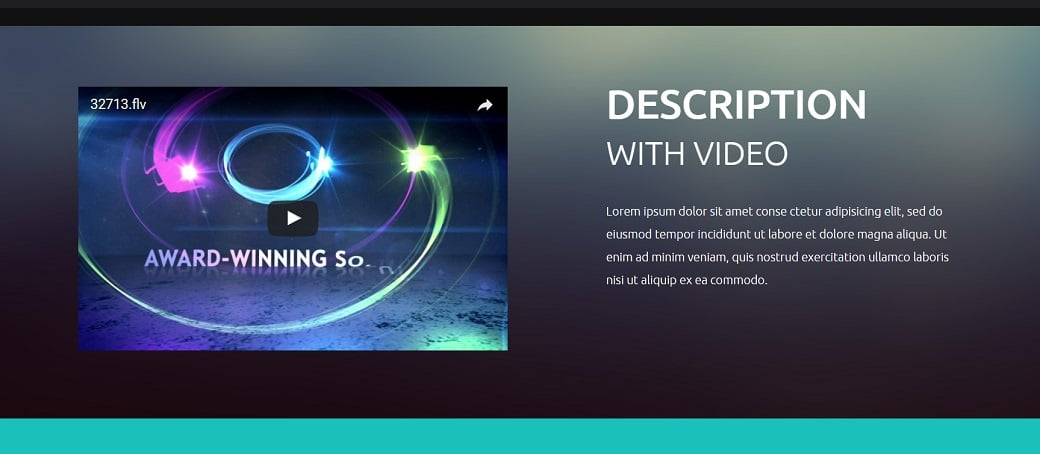 How to make a communications website - video widget