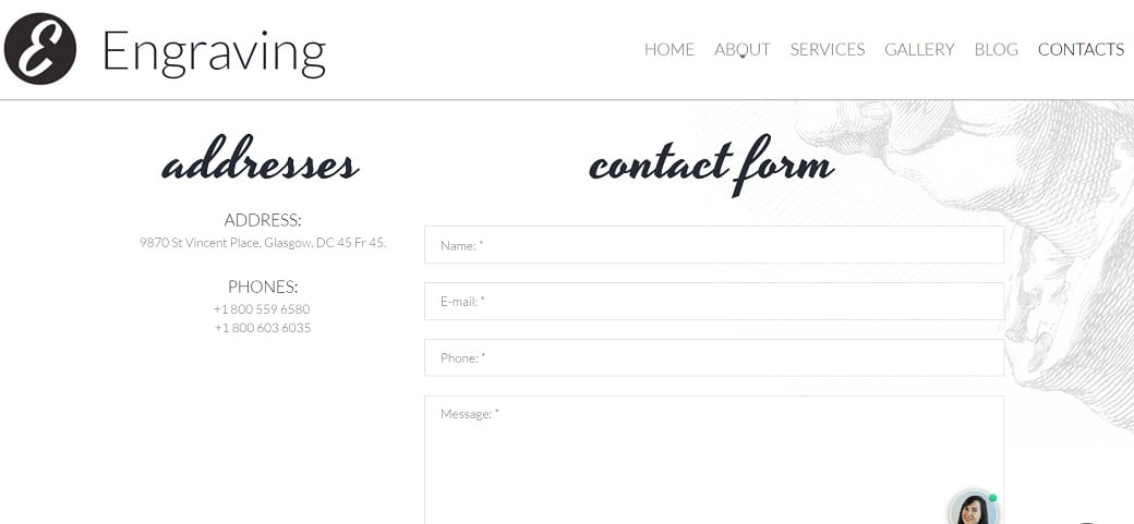 How to make a hobby website - engraving contacts