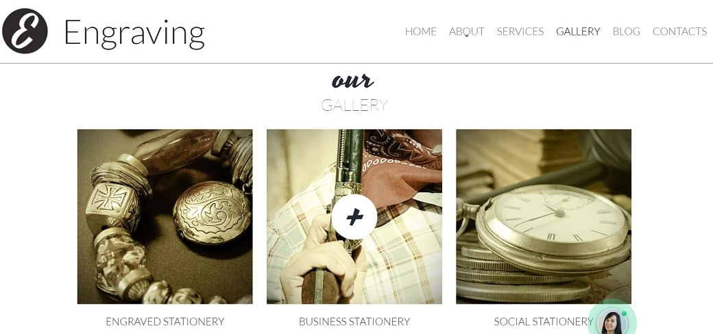 How to make a hobby website - engraving gallery