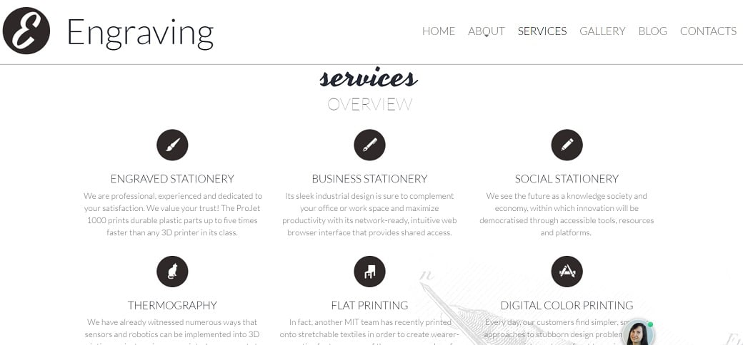 How to make a hobby website - engraving services