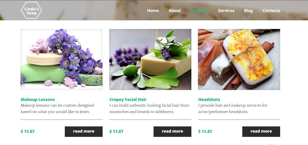 How to make a hobby website - soap products