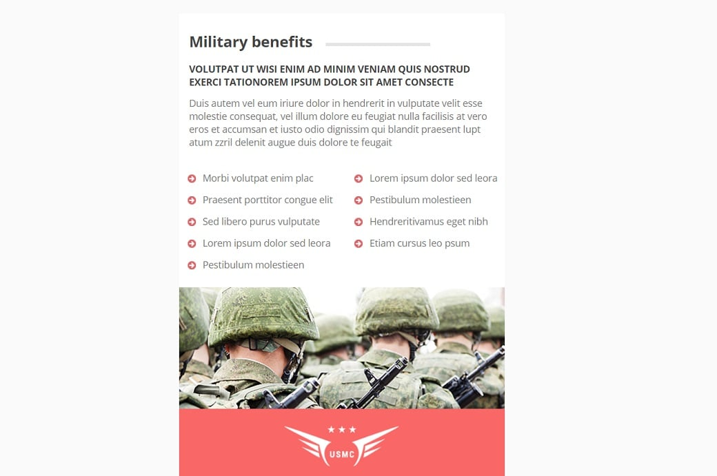 How to make a military website - benefits
