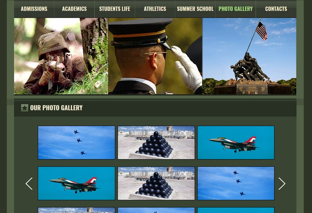 How to make a military website - gallery