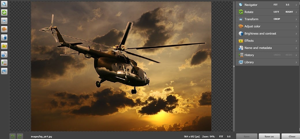 How to make a military website - image editor
