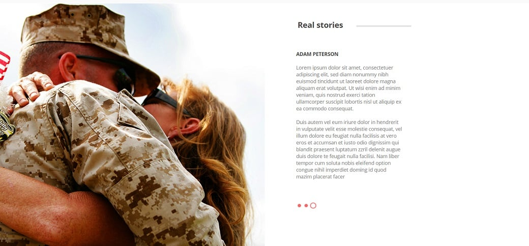How to make a military website - real stories