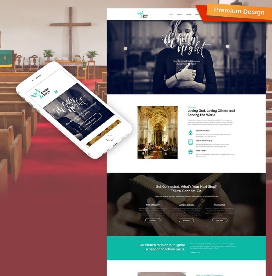 Как создать сайт о религии - Christ Days