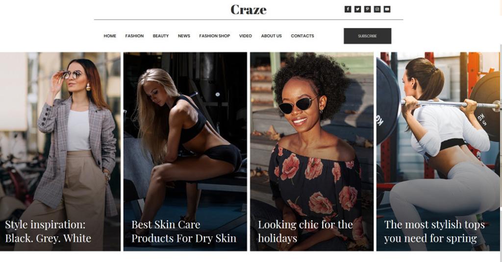 lifestzle fashion blog webdesign