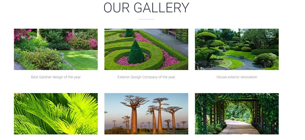 Make an exterior design website - images