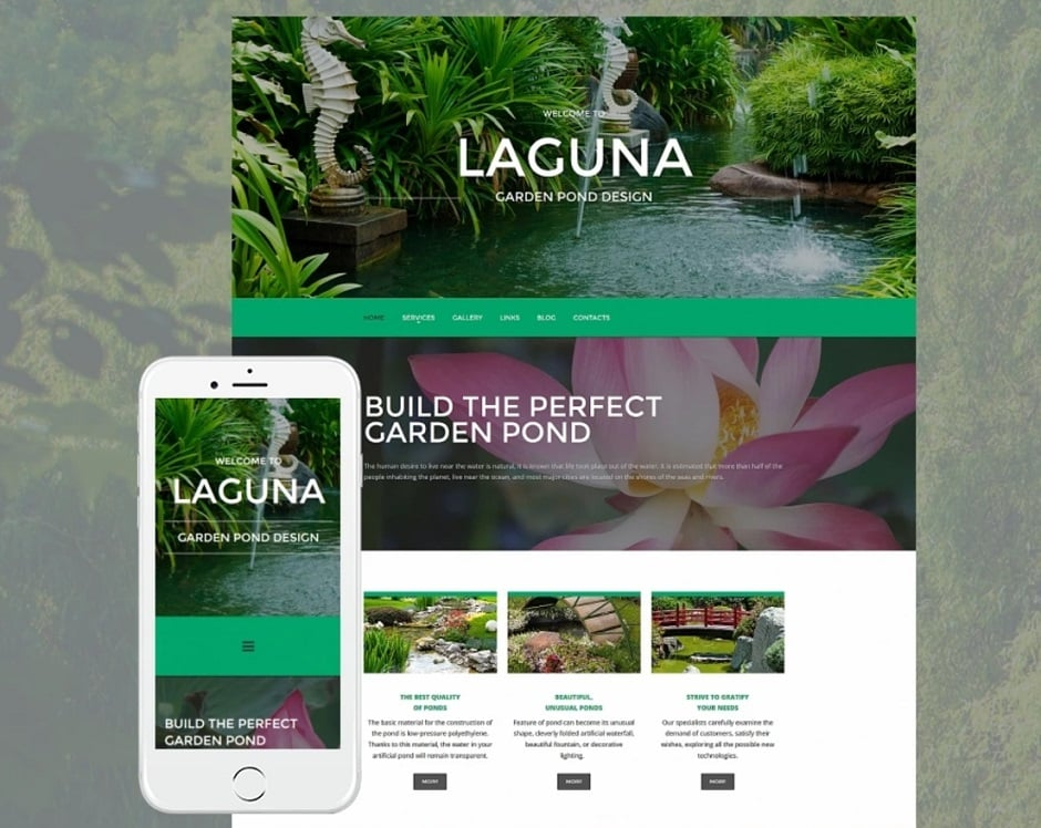 Make an exterior design website - laguna theme
